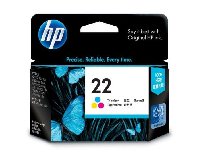 HP 22 INK CARTRIDGE,TRI COLOUR
