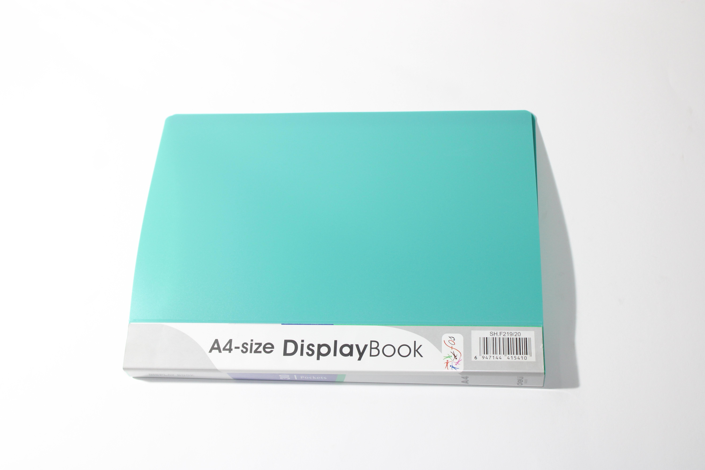 FOS DISPLAY BOOK 40PKT LIGHT GREEN COLOUR