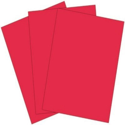 COLOR CHART 30X40 COLORS 220GSM NEON RED COLOUR