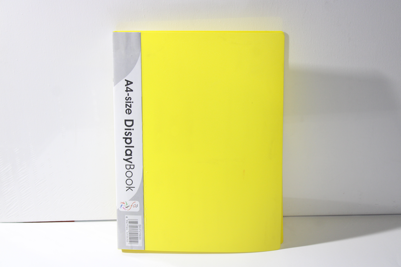 FOS DISPLAY BOOK 20PKT YELLOW COLOUR