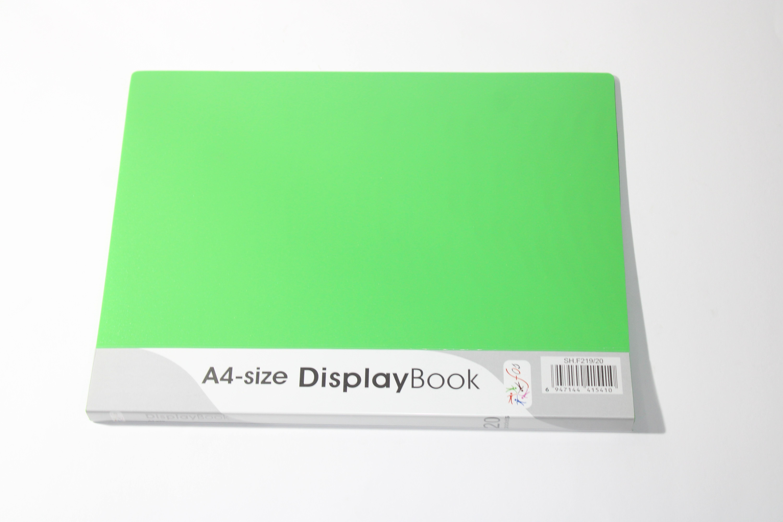 FOS DISPLAY BOOK 40PKT GREEN COLOUR