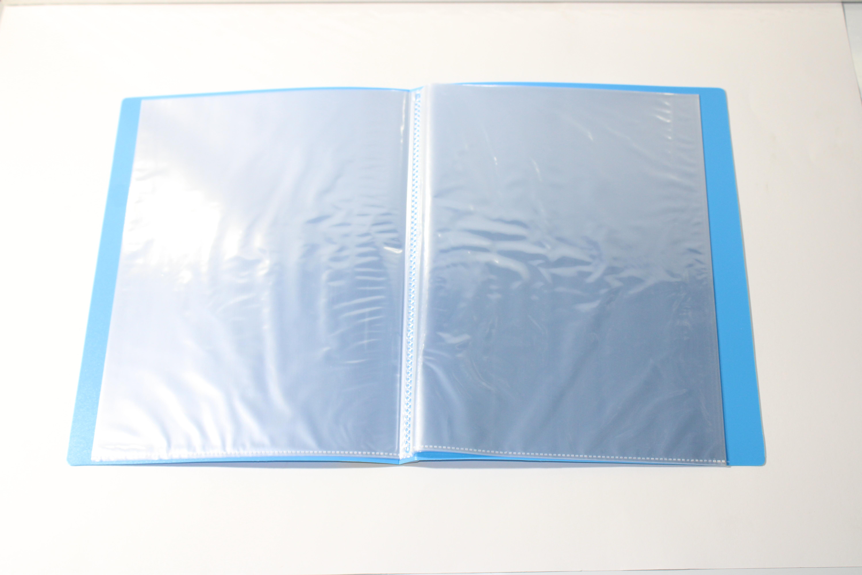 FOS DISPLAY BOOK 20PKT LIGHT BLUE COLOUR