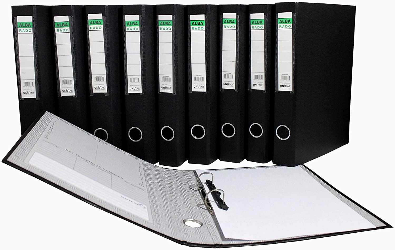 Alba Rado 2 Ring Binder Box File Black Colour 20 PCS