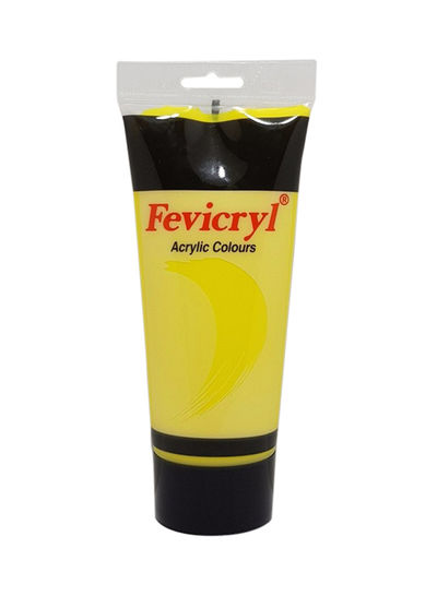Fevicryl Acrylic Colour Lemon Yellow 200ml Tube