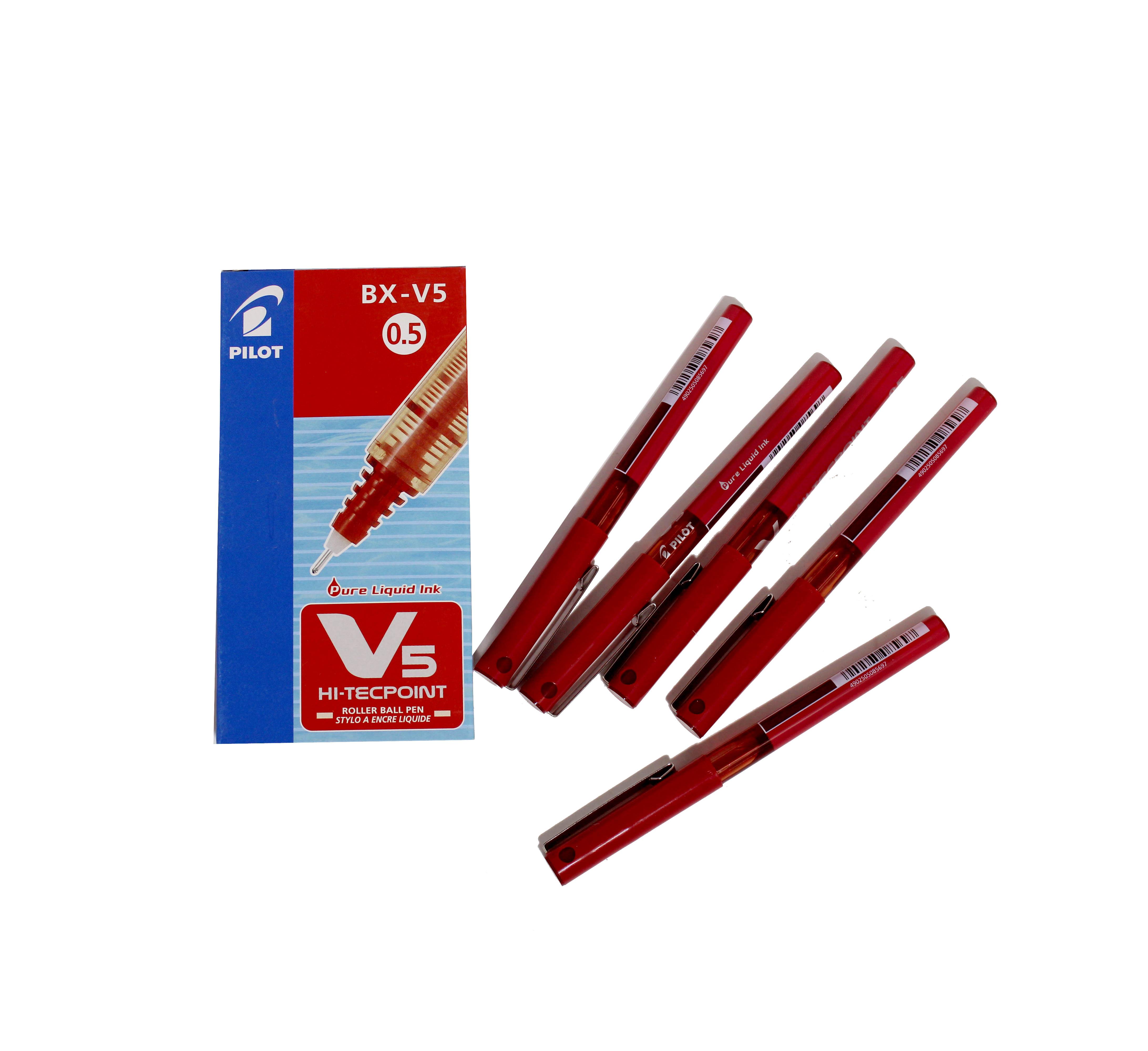 Pilot V5Hi-Tecpoint V5 Roller Ball Pen 0.5MM Blue
