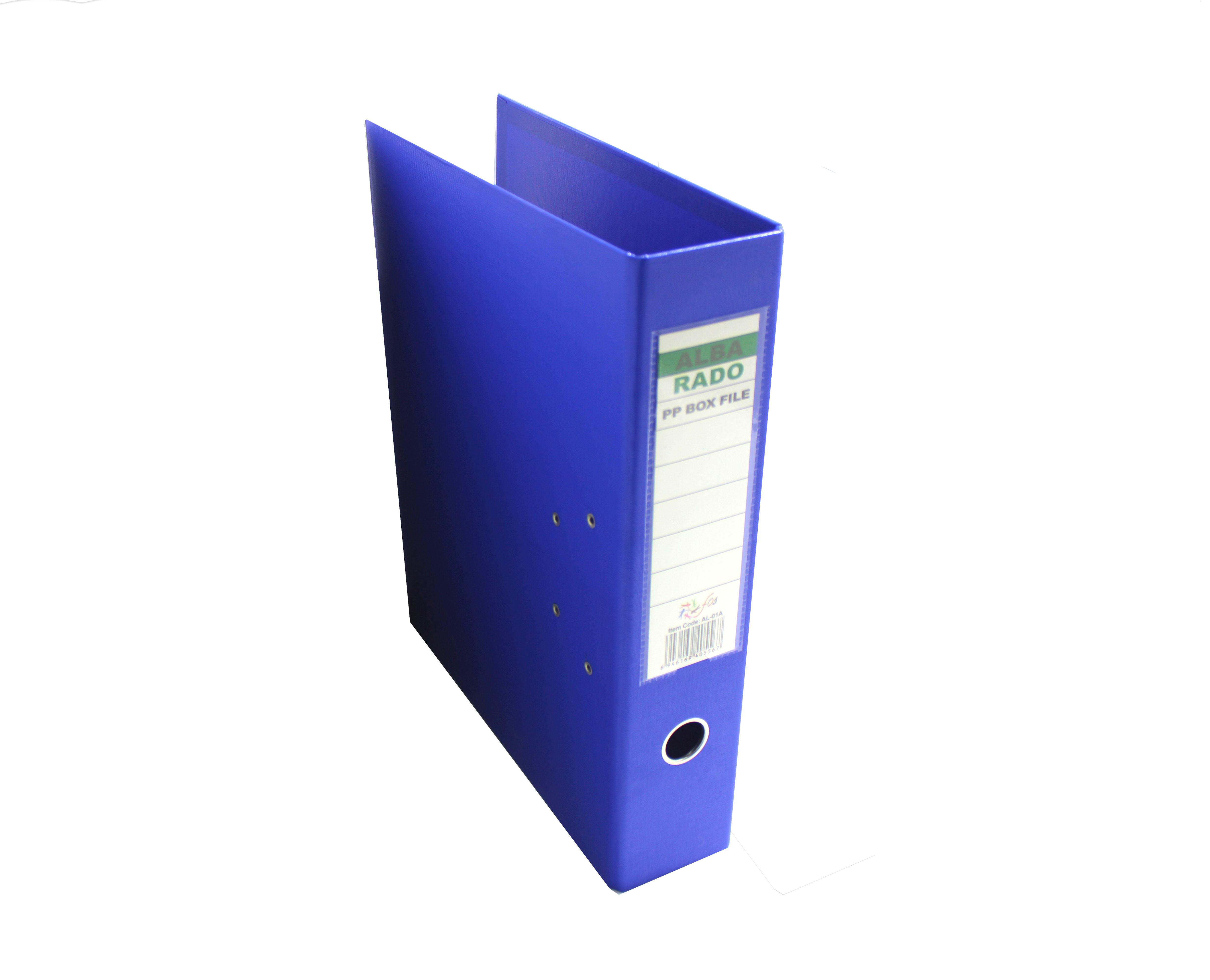 ALBA RADO PVC BOX FILE BLUE 3 INCHES