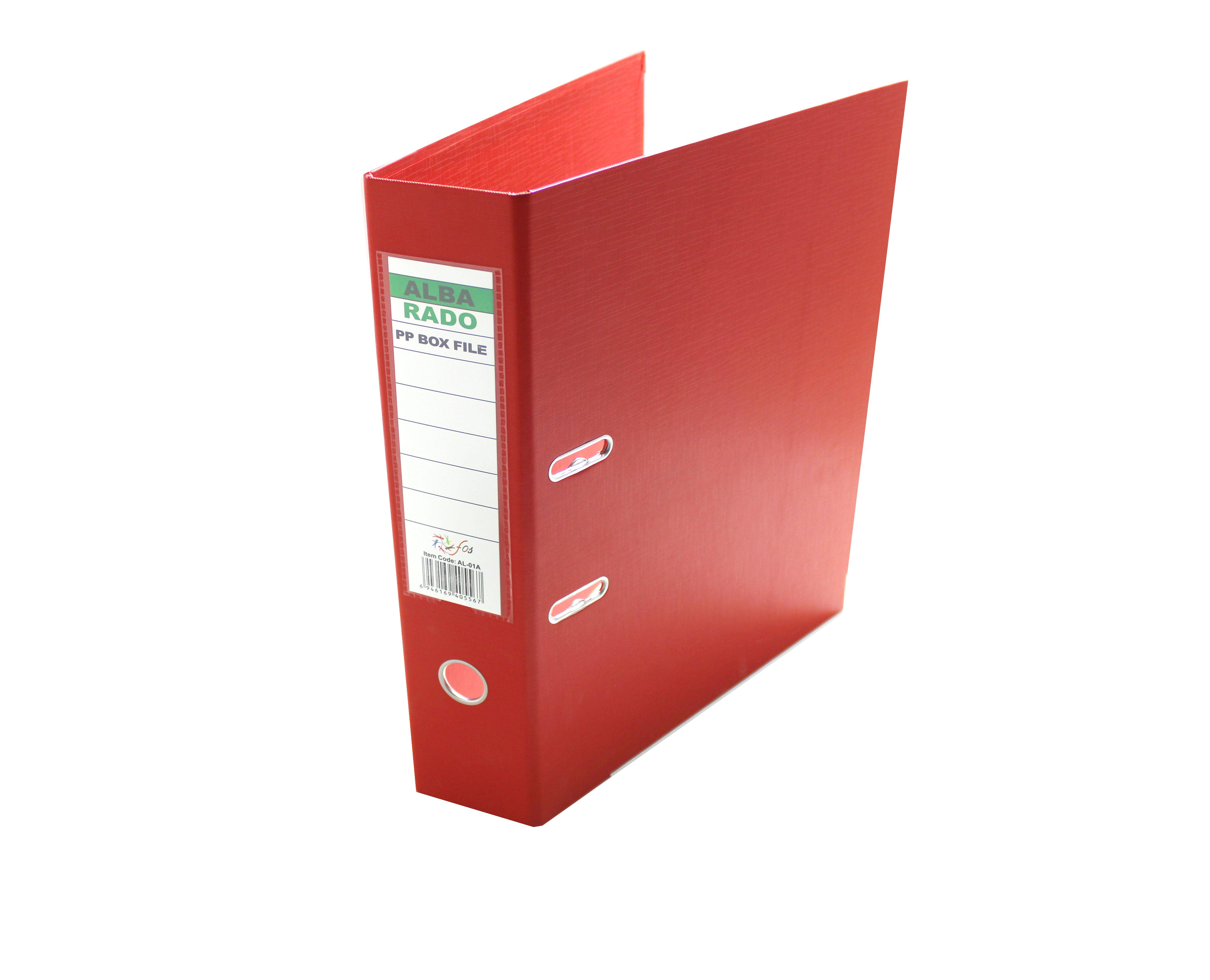 ALBA RADO PVC BOX FILE RED 3 INCHES