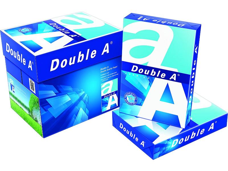 A4 Double A - Printer Copy Paper, GSM 80, 500 Pages Ream (Bundle of 5 Reams)