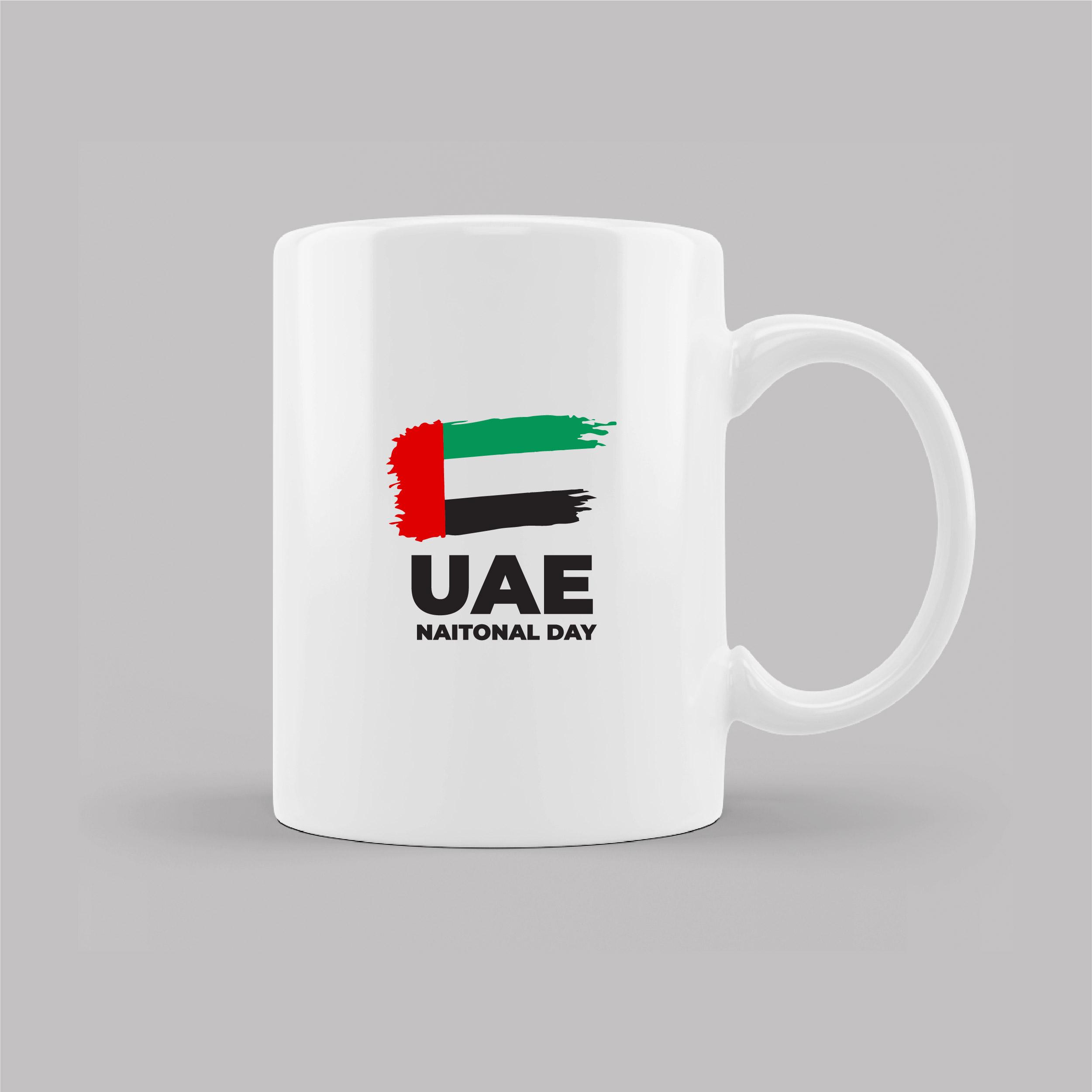 UAE National day  White Mug With UAE Flag