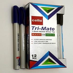 Cello Tri-Mate 1.0MM Ball Pen 12PCS